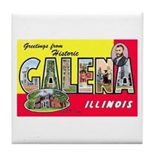 Galena Illinois Greetings Tile Coaster