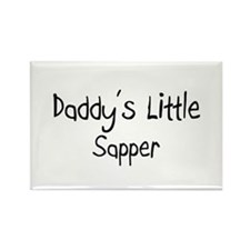 Daddy's Little Sapper Rectangle Magnet