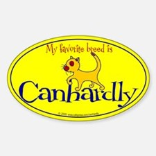 Favorite cat breed Oval Decal