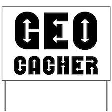 Geocacher Arrows Yard Sign