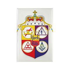 York Rite Crest Rectangle Magnet