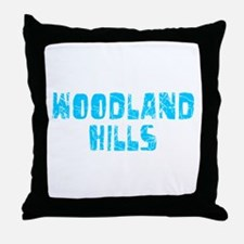 Woodland Hills Faded (Blue) Throw Pillow