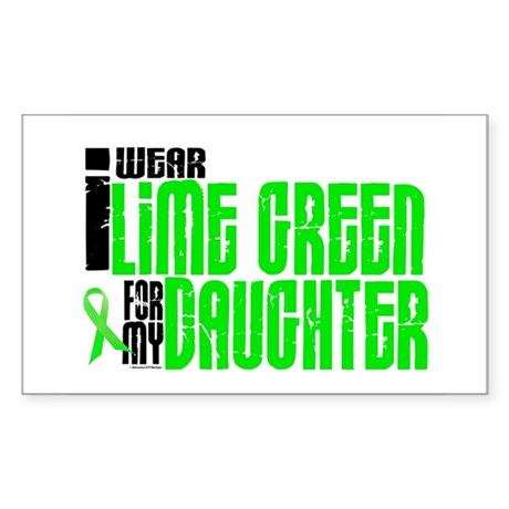 I Wear Lime Green For My Daughter 6 Sticker (Recta
