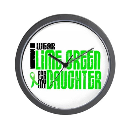 I Wear Lime Green For My Daughter 6 Wall Clock