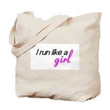 Cute Run like a girl Tote Bag