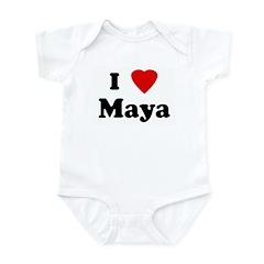 I Love Maya Infant Bodysuit