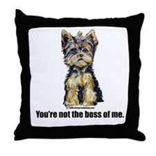Yorkshire Terrier - Yorkie Bo Throw Pillow