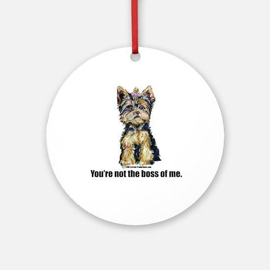 Yorkshire Terrier - Yorkie Bo Ornament (Round)