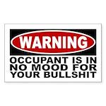 warning: bullshit bumper sticker