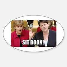 Sit Doon! Decal