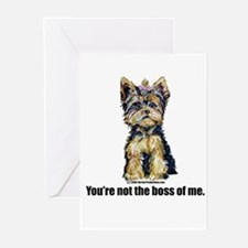 Yorkshire Terrier - Yorkie Bo Greeting Cards (Pk o