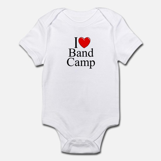 """I Love (Heart) Band Camp"" Infant Bodysuit"