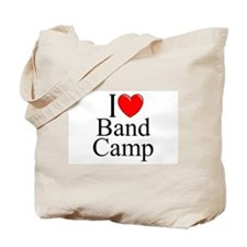 """I Love (Heart) Band Camp"" Tote Bag"