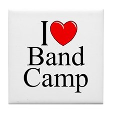 """I Love (Heart) Band Camp"" Tile Coaster"