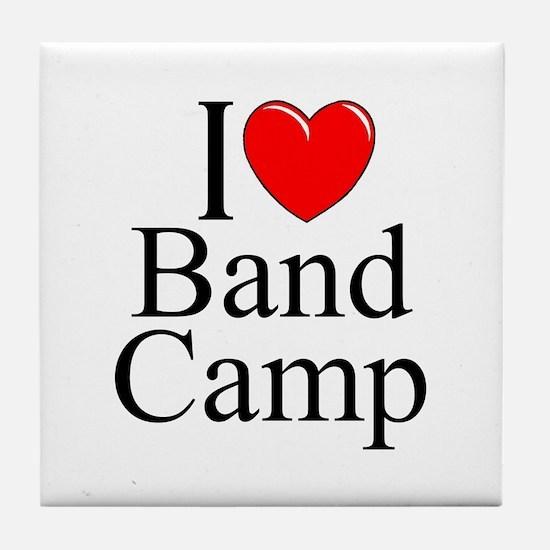 """I Love (Heart) Band Camp"" Tile Coaster"
