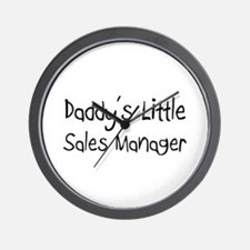 Daddy's Little Sales Manager Wall Clock