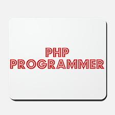 Retro PHP Program.. (Red) Mousepad