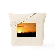 Golden Ripple Sunset Tote Bag