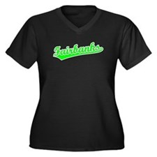 Retro Fairbanks (Green) Women's Plus Size V-Neck D