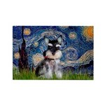Starry / Schnauzer Rectangle Magnet (100 pack)