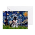 Starry / Schnauzer Greeting Cards (Pk of 20)