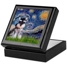 Starry / Schnauzer Keepsake Box