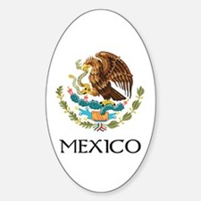 Mexico Coat of Arms Oval Decal