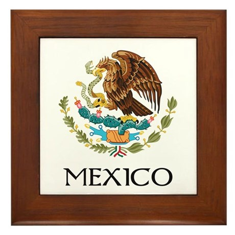 Mexico Coat of Arms Framed Tile