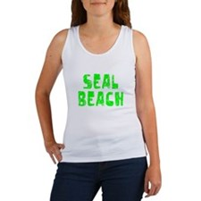 Seal Beach Faded (Green) Women's Tank Top