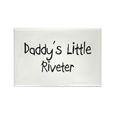 Daddy's Little Riveter Rectangle Magnet