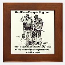 Gold Fever Prospecting Framed Tile