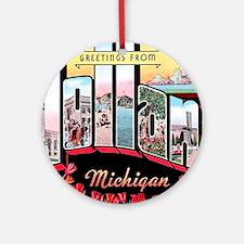 Holland Michigan Greetings Ornament (Round)