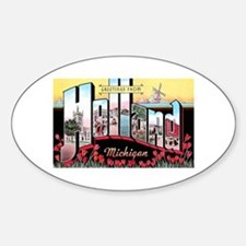 Holland Michigan Greetings Oval Stickers