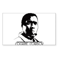 Cocaine Cowboy Rectangle Decal
