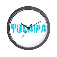 Yucaipa Faded (Blue) Wall Clock