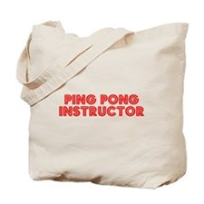 Retro Ping Pong I.. (Red) Tote Bag