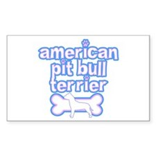 Powderpuff Pit Bull Rectangle Decal