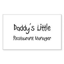 Daddy's Little Restaurant Manager Decal