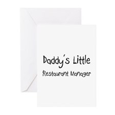 Daddy's Little Restaurant Manager Greeting Cards (
