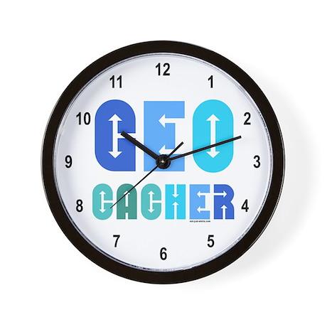 Geocacher Arrows Blue Wall Clock