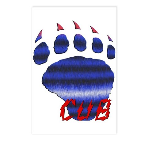 CUB/FURRY LEATHER PRIDE BEAR PAW Postcards (Packag