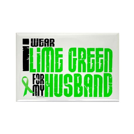 I Wear Lime Green For My Husband 6 Rectangle Magne