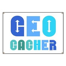 Geocacher Arrows Blue Banner
