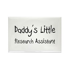 Daddy's Little Research Assistant Rectangle Magnet