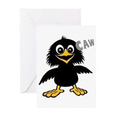 Funny Crow Greeting Card