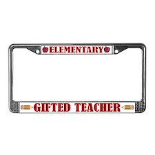 Elementary Gifted Teacher License Plate Frame