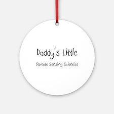 Daddy's Little Remote Sensing Scientist Ornament (