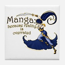 Fun Manga Fan Design Tile Coaster