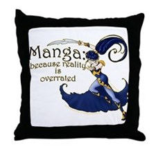 Fun Manga Fan Design Throw Pillow