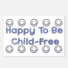 Happy To Be Child-Free Postcards (Package of 8)